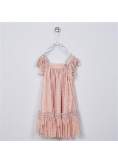 Panço Kız Çocuk Parti Elbisesi 2011GK26001 Pembe